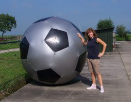 aardbal zilver voetbal 2m. #1