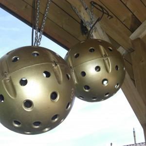 Feestverlichting gouden ballen #1