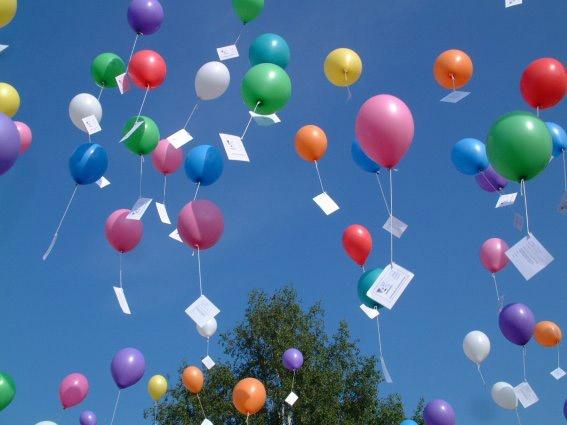Helium Ballonnenwedstrijd